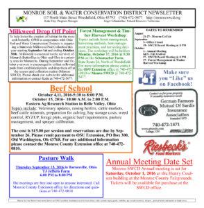 Newsletter August 2016